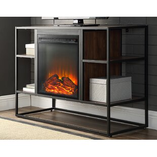 Read Reviews Ibrahim TV Stand for TVs up to 40 with Electric Fireplace ByGeorge Oliver