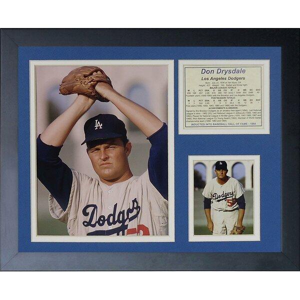 Don Drysdale Framed Memorabilia by Legends Never Die