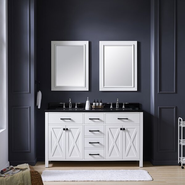 Xena 60 Double Bathroom Vanity Set by Ove Decors
