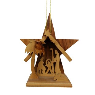 olive wood large star grotto ornament - Large Outdoor Christmas Star