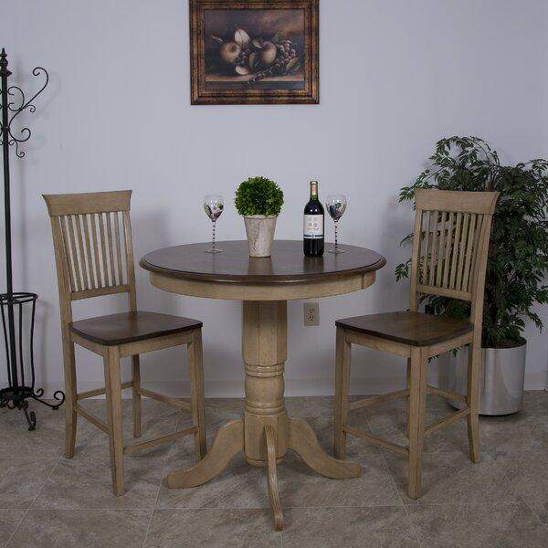 Huerfano Valley 3 Piece Pub Table Set by Loon Peak Loon Peak