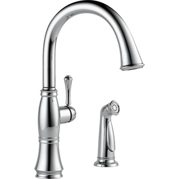 Cassidy Single Handle Kitchen Faucet with Side Spray and Diamond Seal Technology by Delta