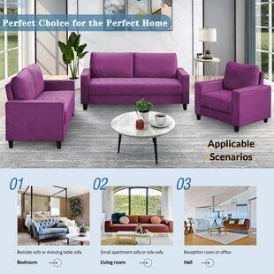 Jannai 3 Piece Velvet Configurable Living Room Set by Latitude Run®