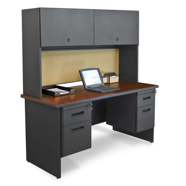 Pronto Executive Desk with Hutch by Marvel Office Furniture