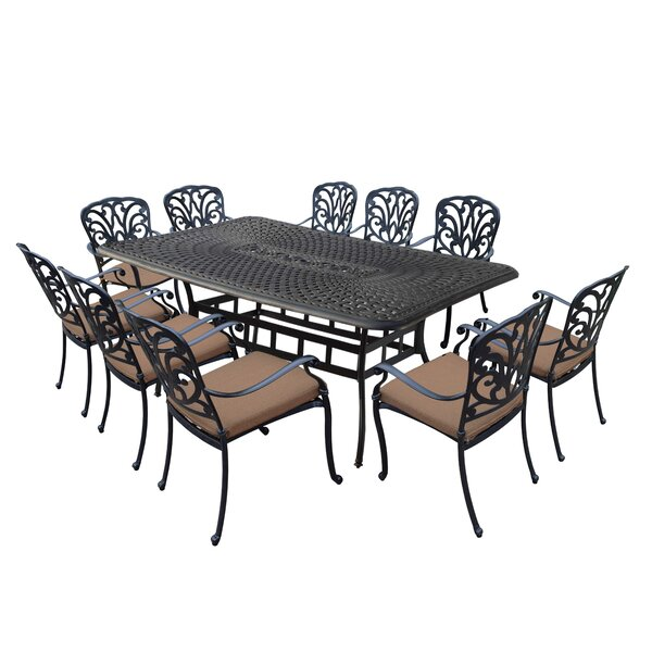 Bosch Aluminum 11 Piece Dining Set with Cushions by Darby Home Co