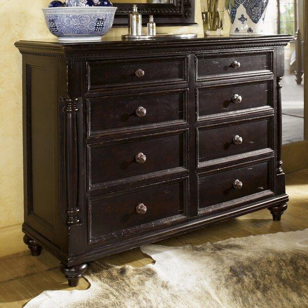 Home & Garden Kingstown Stony Point 8 Drawer Media Double Dresser
