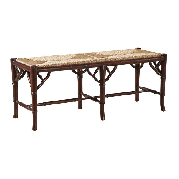 Mahogany Wood Bench by Furniture Classics