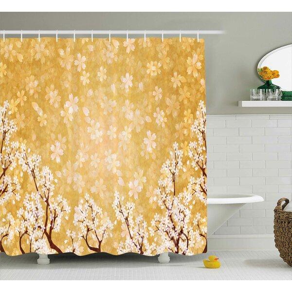Jamal Trees Blossom Shower Curtain by Winston Porter