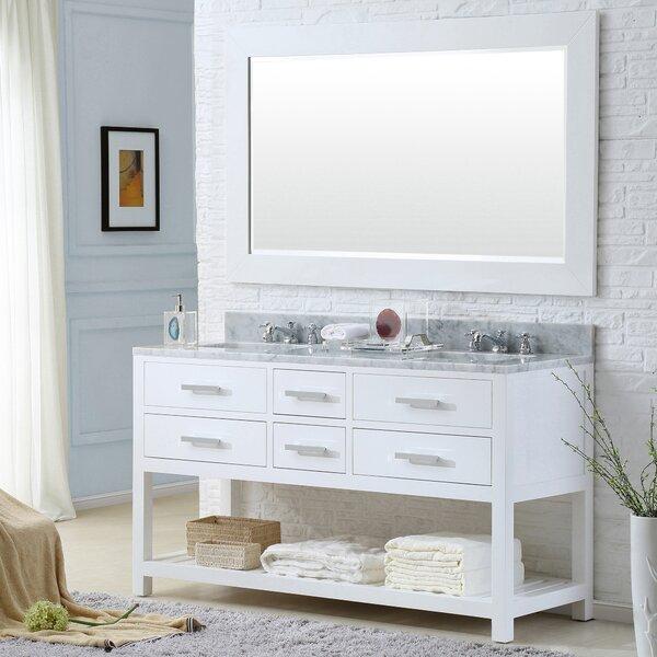Perego 60 Double Sink Bathroom Vanity Set with Mirror