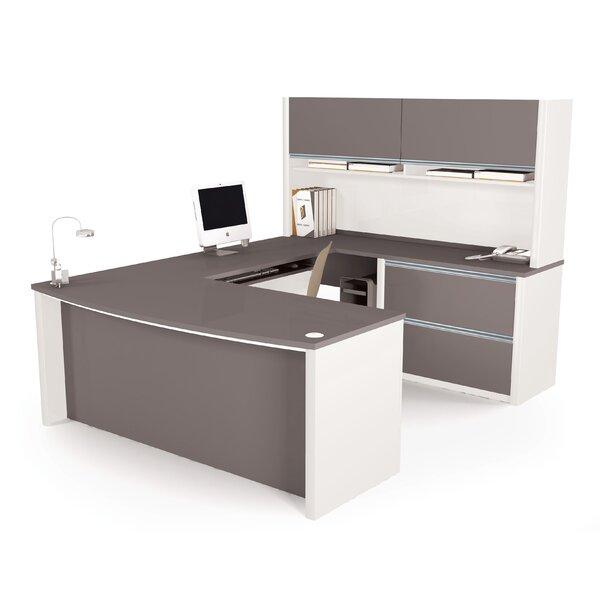 Karla U-Shape Executive Desk with Hutch by Latitude Run