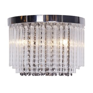 glass chandelier shades. Contemporary Crystal Glass 3-Light Flush Mount Chandelier Shades