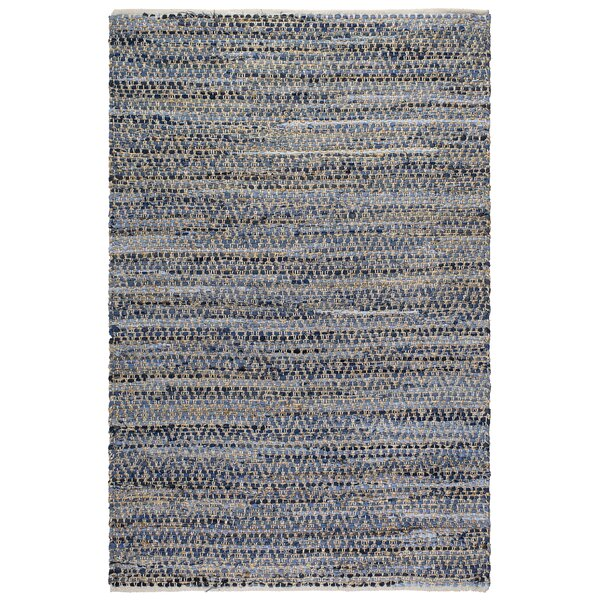Metro Myrtle Hand-Woven Natural/Denim Area Rug by Fab Habitat