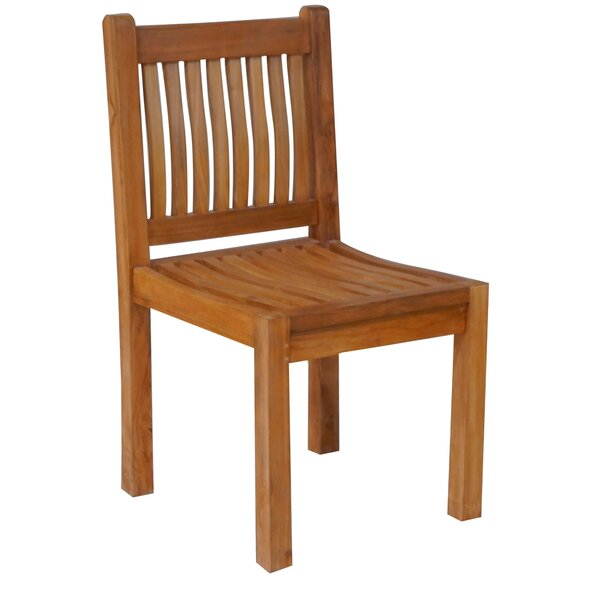 Quinlan Teak Patio Dining Side Chair by Darby Home Co