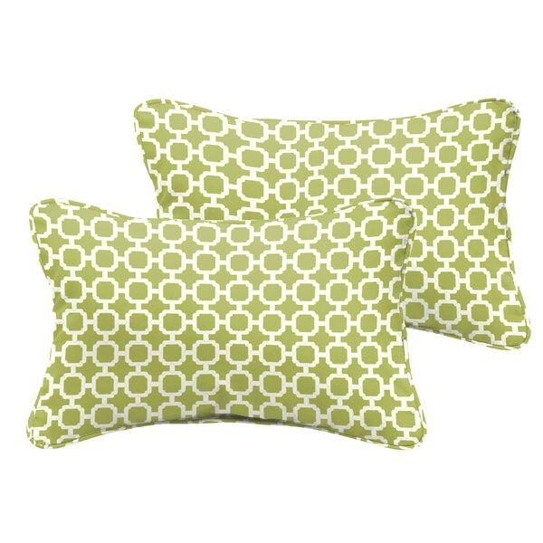 Samantha Geometric Indoor/ Outdoor Lumbar Pillow (Set of 2) by Latitude Run