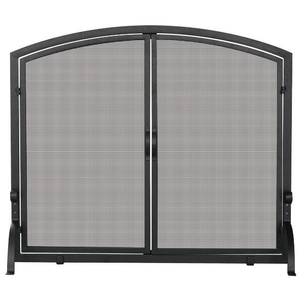 Single Panel Iron Fireplace Screen By Uniflame
