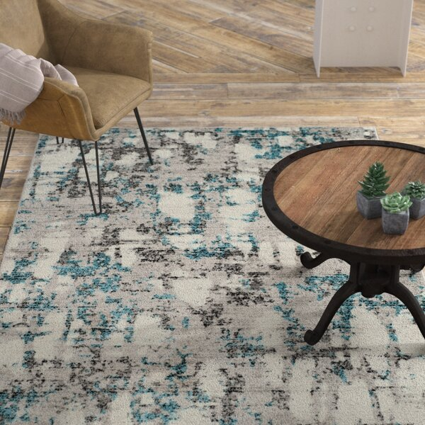 Despain Gray/Blue Area Rug by Williston Forge