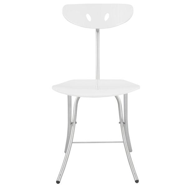 High Gloss Metal Folding Chair (Set of 2) by CORNER HOUSEWARES