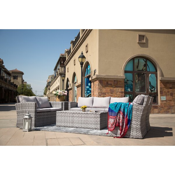 Giavanna 6 Piece Rattan Sofa Seating Group with Cushions by Latitude Run