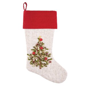 Tree Ribbon Art Stocking
