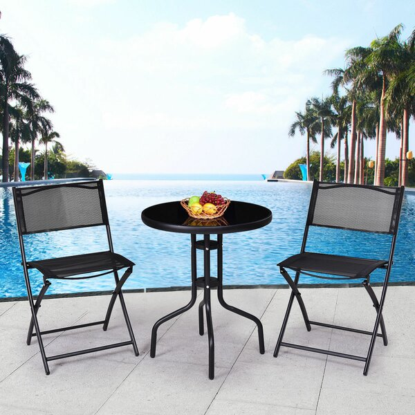 Capucina Backyard 3 Piece Bistro Set By Winston Porter by Winston Porter Top Reviews