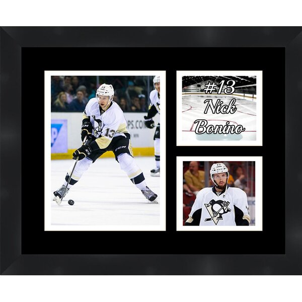 Pittsburgh Penguins Nick Bonino 13 Photo Collage Framed Photographic Print by Frames By Mail