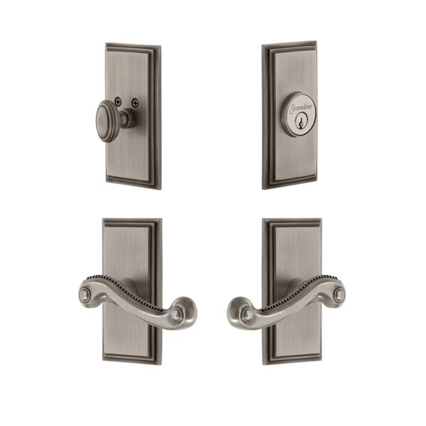 Carre Single Cylinder Lever Combo Pack with Newport Lever by Grandeur