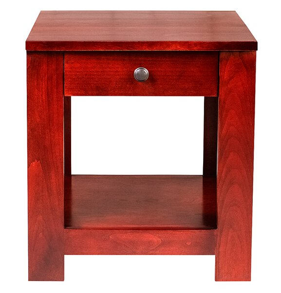 Mcnamara 20 H End Table with Black Knobs by Loon Peak