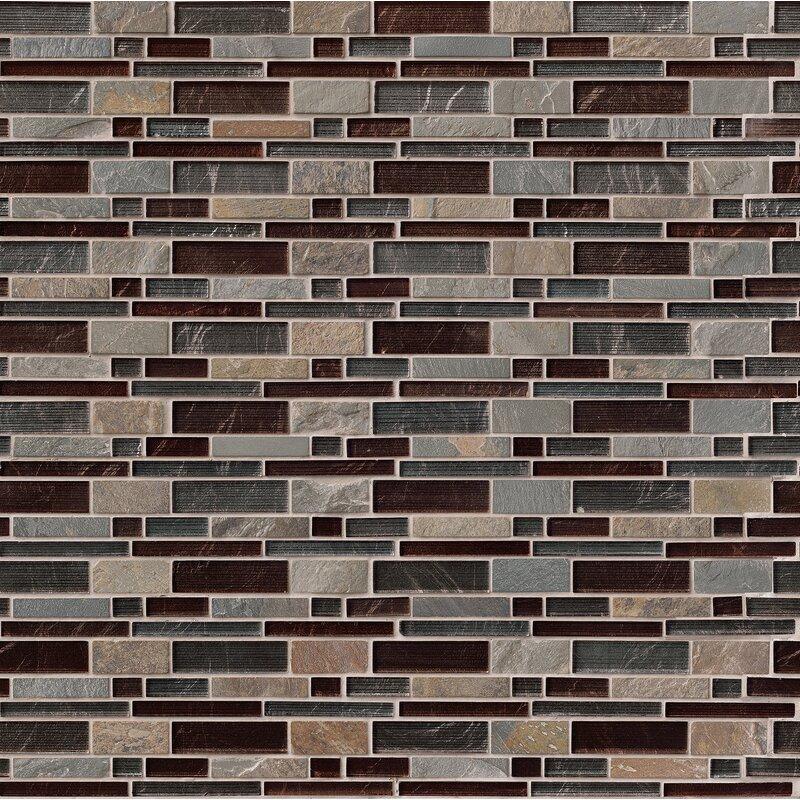 MSI Urbano Blend Interlocking Pattern Random Sized Glass Tile In Magnificent Random Tile Pattern