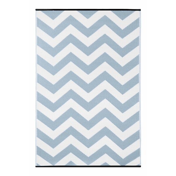 Light Blue/White Indoor/Outdoor Area Rug by Wildon Home®