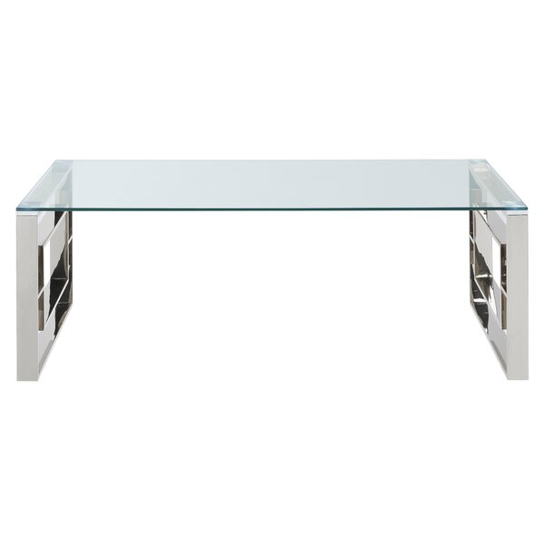 Mendell Stainless Steel Coffee Table by House of Hampton