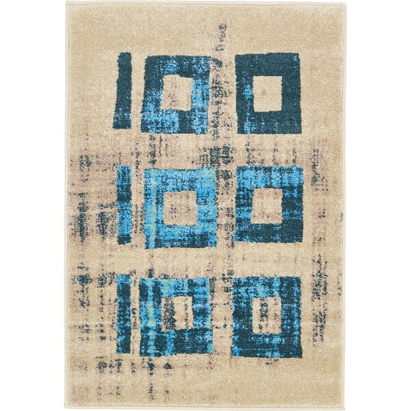 Annisville Teal Area Rug by Bungalow Rose
