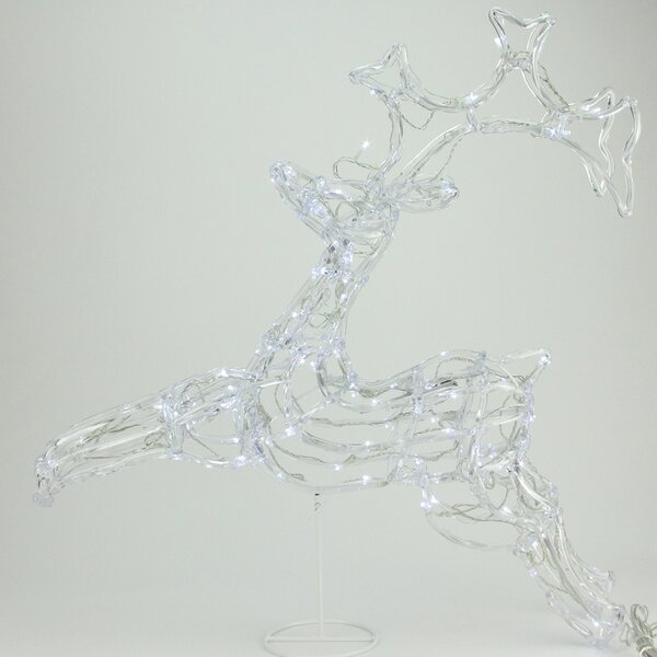 LED Lighted Running Buck Deer Spun Glass Christmas Decoration by Penn Distributing