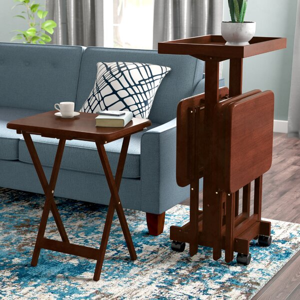 Palko 6 Piece Snack Tray Table Set By Symple Stuff