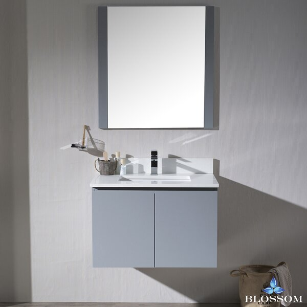 Maly 30 Single Bathroom Vanity Set with Mirror by Orren Ellis