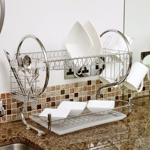 2 Tier Dish Rack by Sweet Home Collection