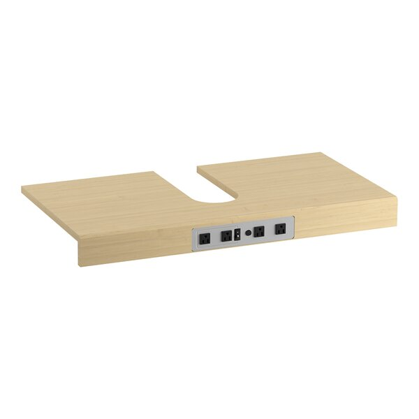 Adjustable Shelf with Electrical Outlets for 60 Tailored Vanities with Single Basin by Kohler