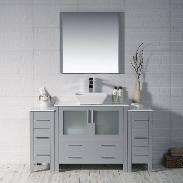 Mance 60 Double Bathroom Vanity Set with Mirror