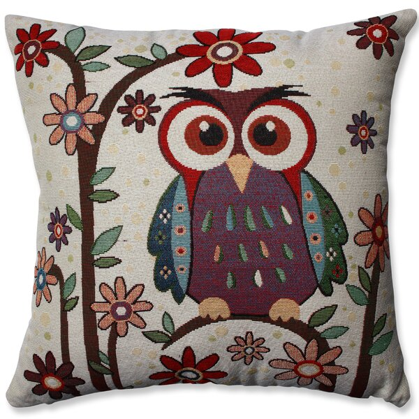 Owl Hoot Throw Pillow by Pillow Perfect
