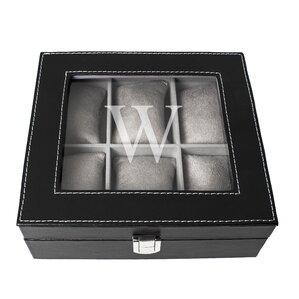 Personalized Leatherette Watch Box by Cathys Concepts