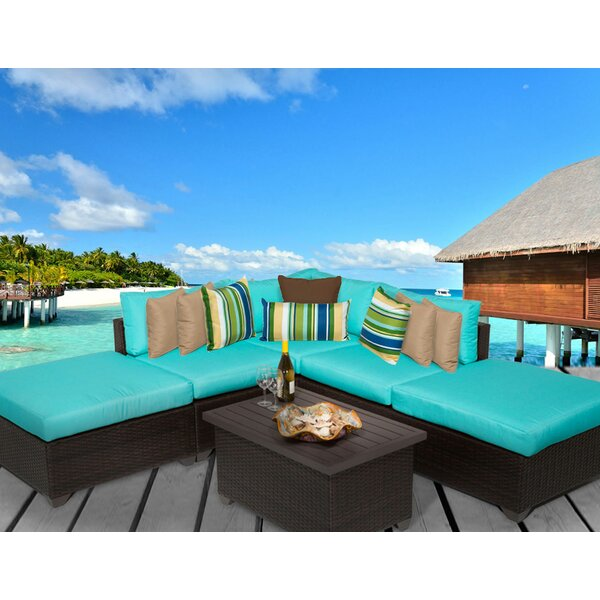 Fernando 6 Piece Sectional Seating Group with Cushions by Sol 72 Outdoor