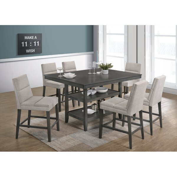 Timm 7 Piece Counter Height Dining Set by Wrought Studio Wrought Studio