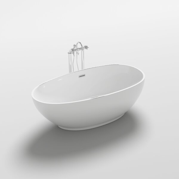Sangro 70.9 x 35.4 Freestanding Soaking Bathtub by Kokss