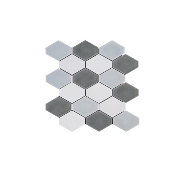 Handmade Diamond 4 x 4 Porcelain Tile in Gray by Multile