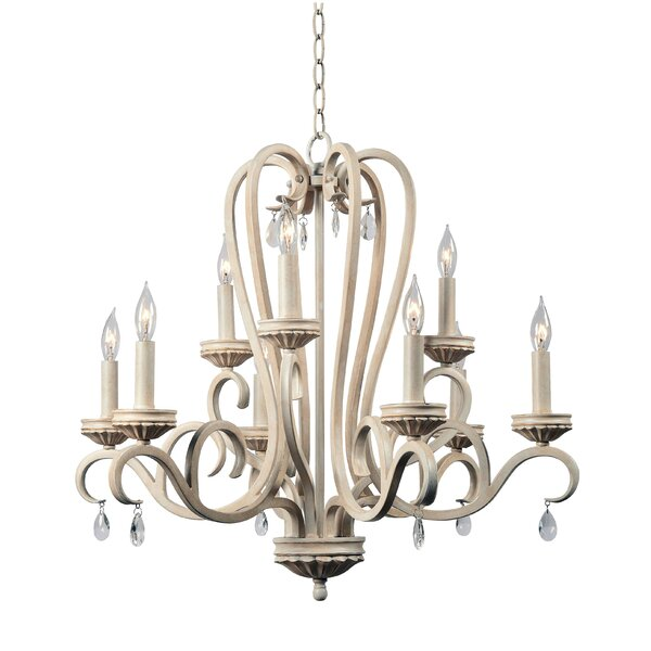 Khaled 9 - Light Candle Style Classic / Traditional Chandelier by Ophelia & Co. Ophelia & Co.