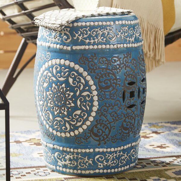 Medallion Porcelain Garden Stool by Oriental Furniture
