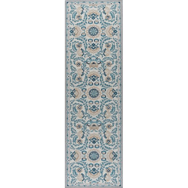 Ashbrook Cream/Blue Area Rug by Charlton Home