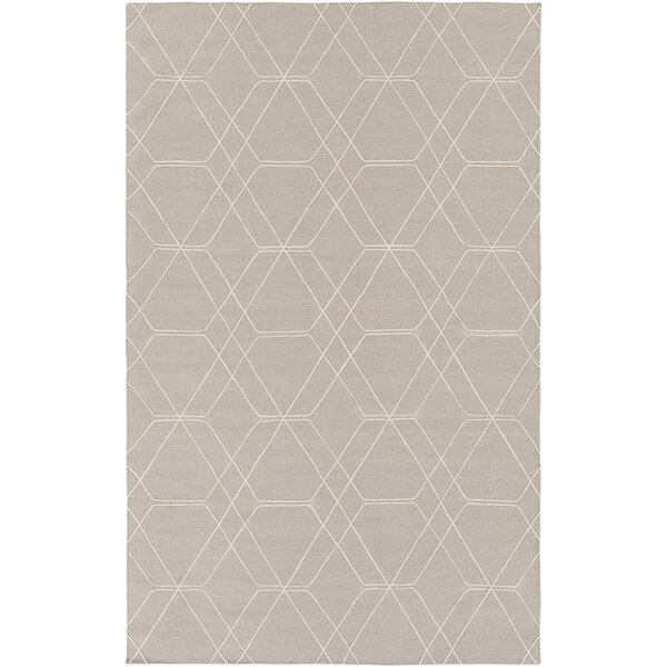 Robin Hand-Woven Taupe/Pale Blue Area Rug by Charlton Home