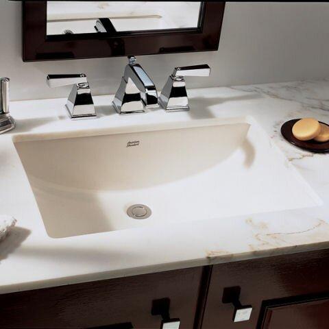 Lovely Studio Ceramic Rectangular Undermount Bathroom Sink With Overflow