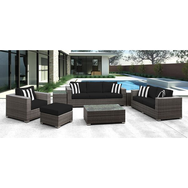 Roslindale 7 Piece Rattan Sunbrella Sofa Set with Cushions by Orren Ellis