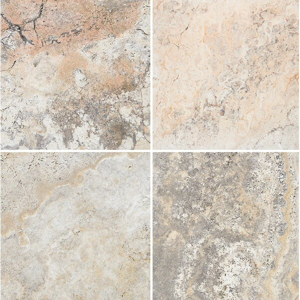 Scabos Unfilled 12 x 12 Travertine Field Tile in Gray by Parvatile